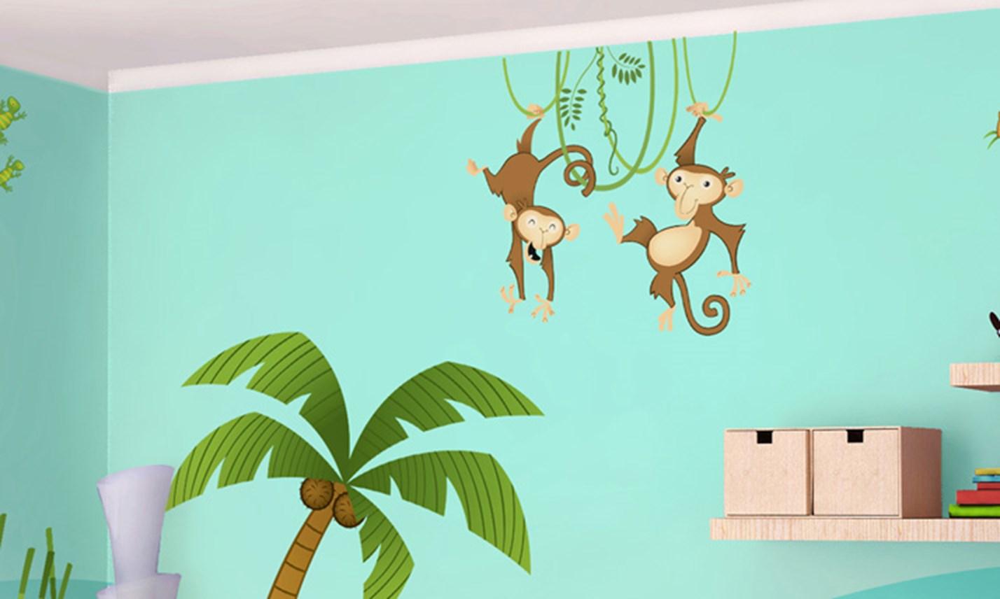 Stickers murali bambini cameretta nella giungla for Crea la tua cameretta